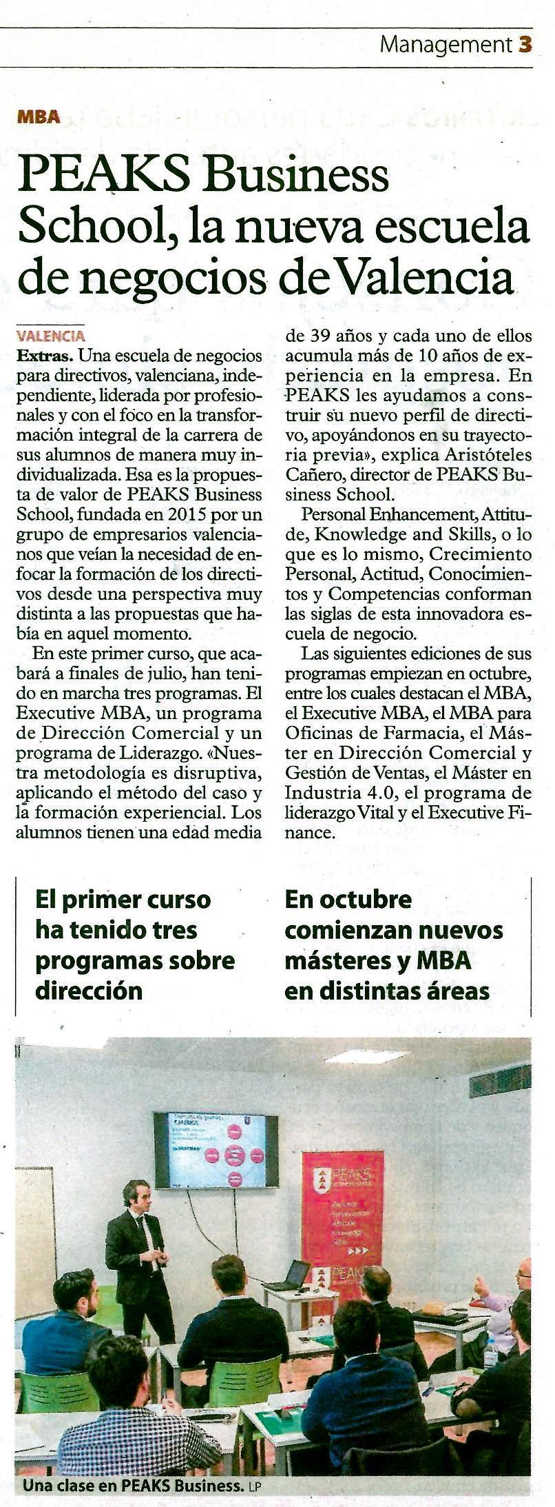 La Escuela de Negocios de Valencia