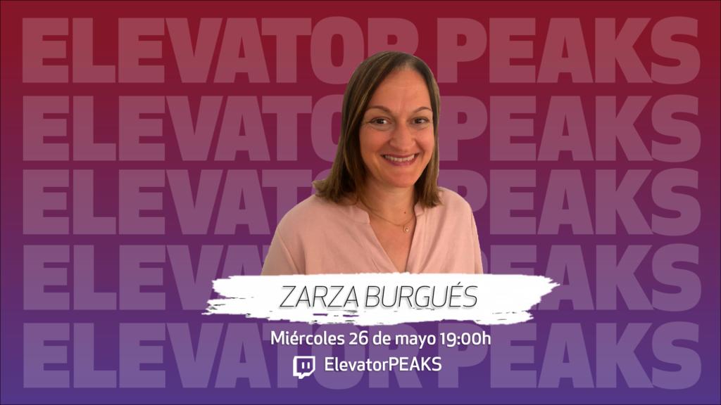 Promoción de la entrevista a Zarza Burgués
