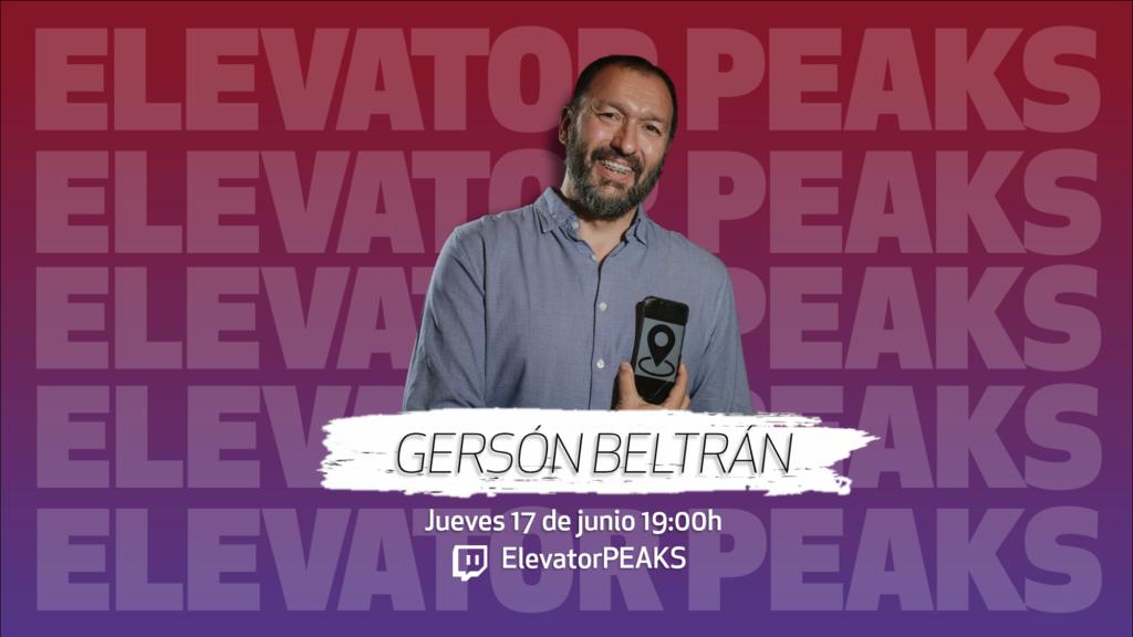 Gersón Beltrán, sosteniendo un móvil con un icono de geolocalización en la pantalla