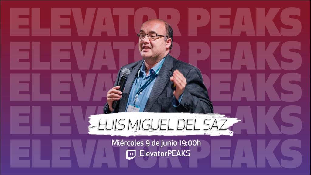 Promoción de la entrevista a Luis Miguel del Saz